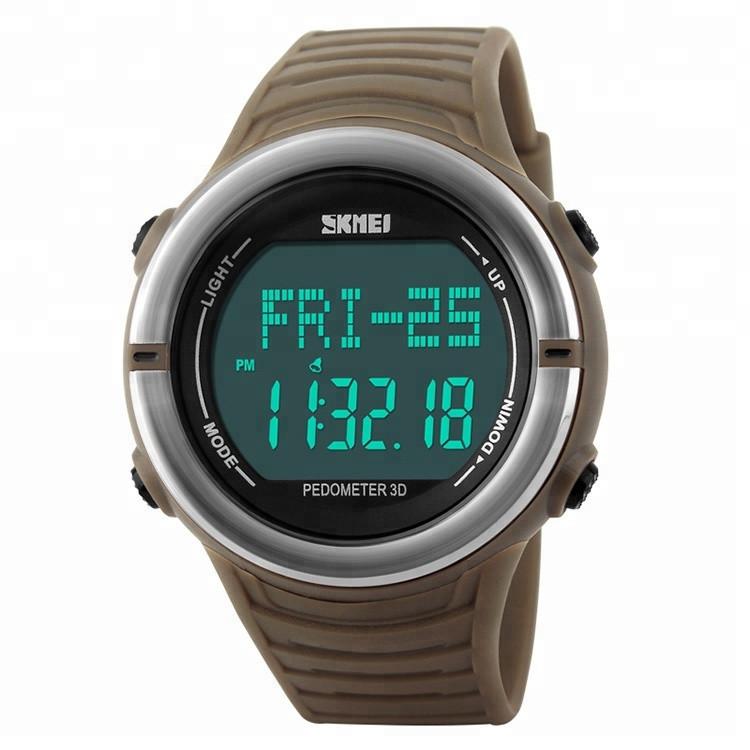 Cпортивные часы c пульсометром Skmei Pulse 1111 Хаки