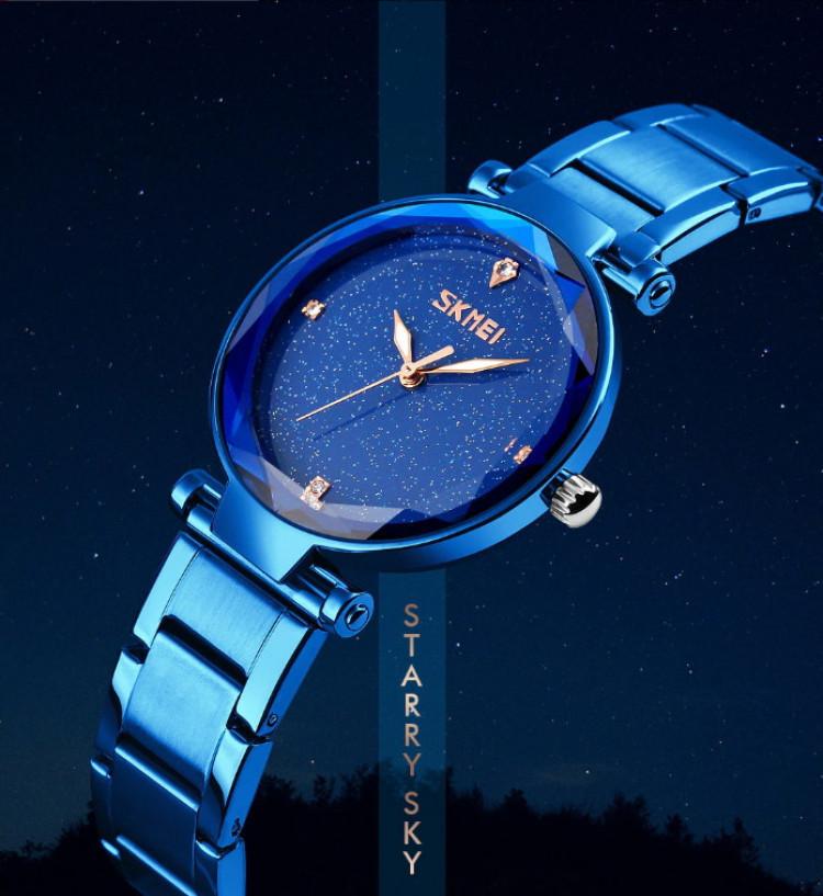 Skmei 9180 Miss синие оригинальные женские часы на браслете