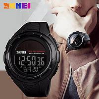 Skmei 1405 Solar черные мужские спортивные часы на солнечной батарее