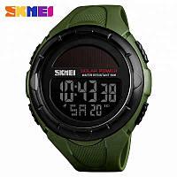 Skmei 1405 Solar зеленые мужские спортивные часы на солнечной батарее