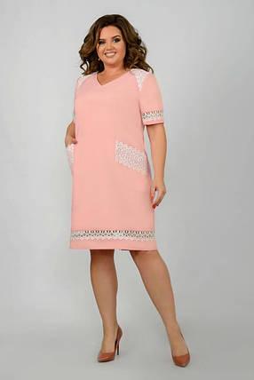 Нежное женское платье ткань *Костюмная* 50 размер батал, фото 2