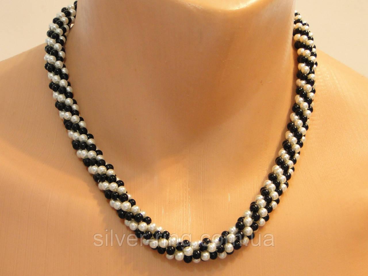 """Ожерелье """"Белое и черное"""""""