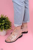 Босоножки женские розовые- пудра эко-кожа  , фото 1