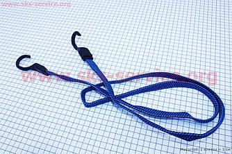 Гумка на велосипедний багажник, плоска з гачками пластиковими, 1,5 метра