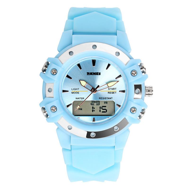 Skmei Easy II 0821 голубые спортивные женские часы