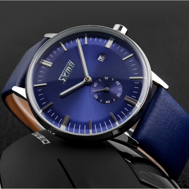 Skmei 9083 Submarine синие классические мужские часы