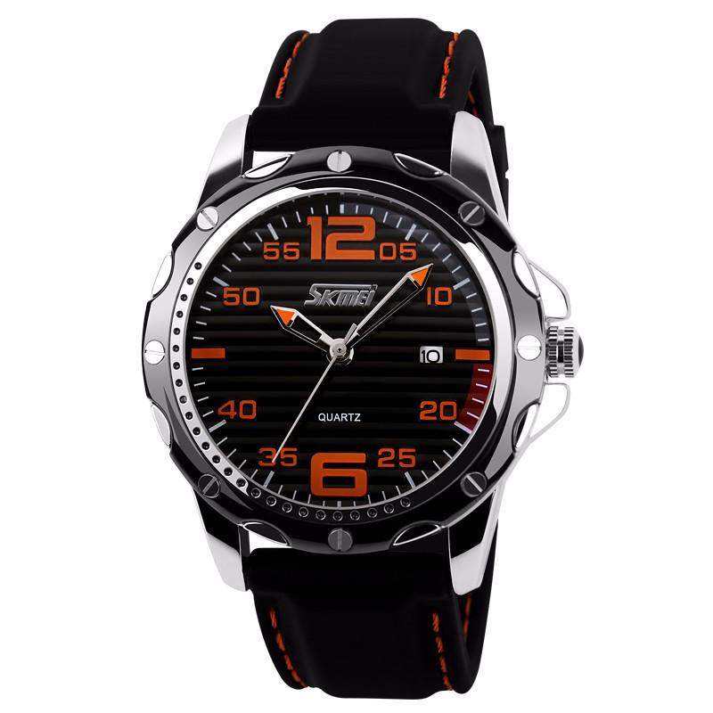 Оригинальный оранжевые мужские часы Skmei 0992 Robby