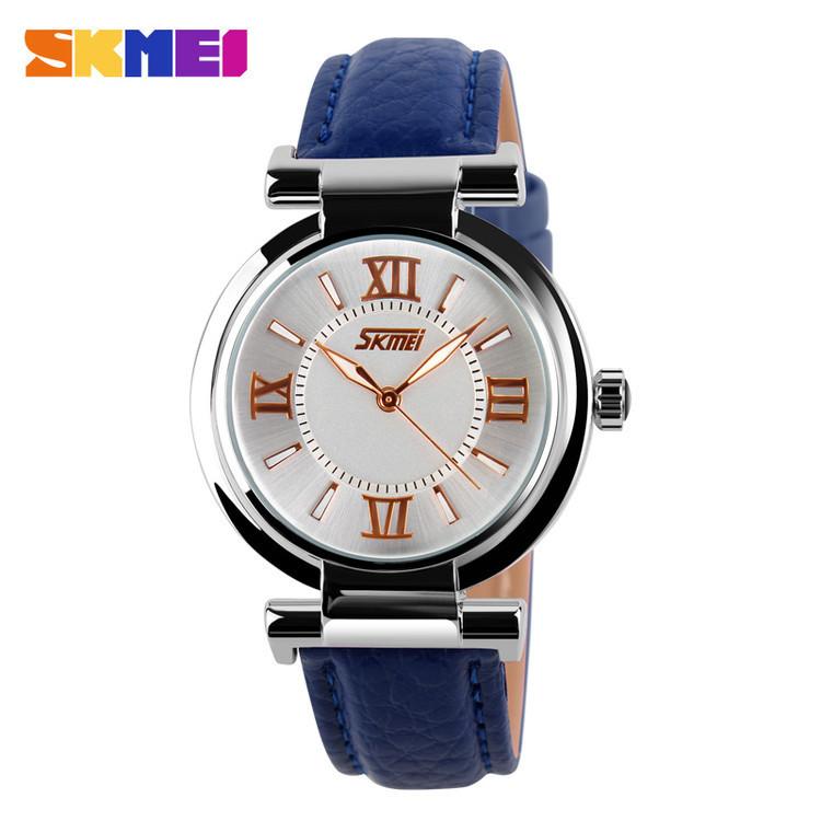 Skmei 9075 Elegant синие женские часы