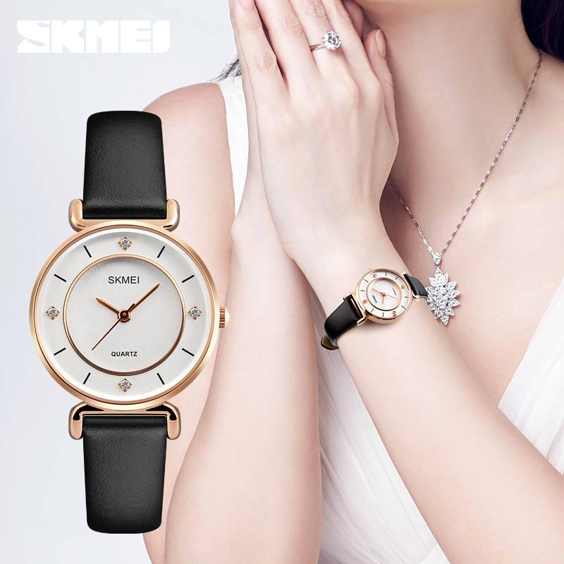 Skmei 1330 Batterfly золотые женские часы