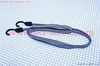Резинка на багажник велосипеда, плоская с крючками пластиковыми, 2 метра