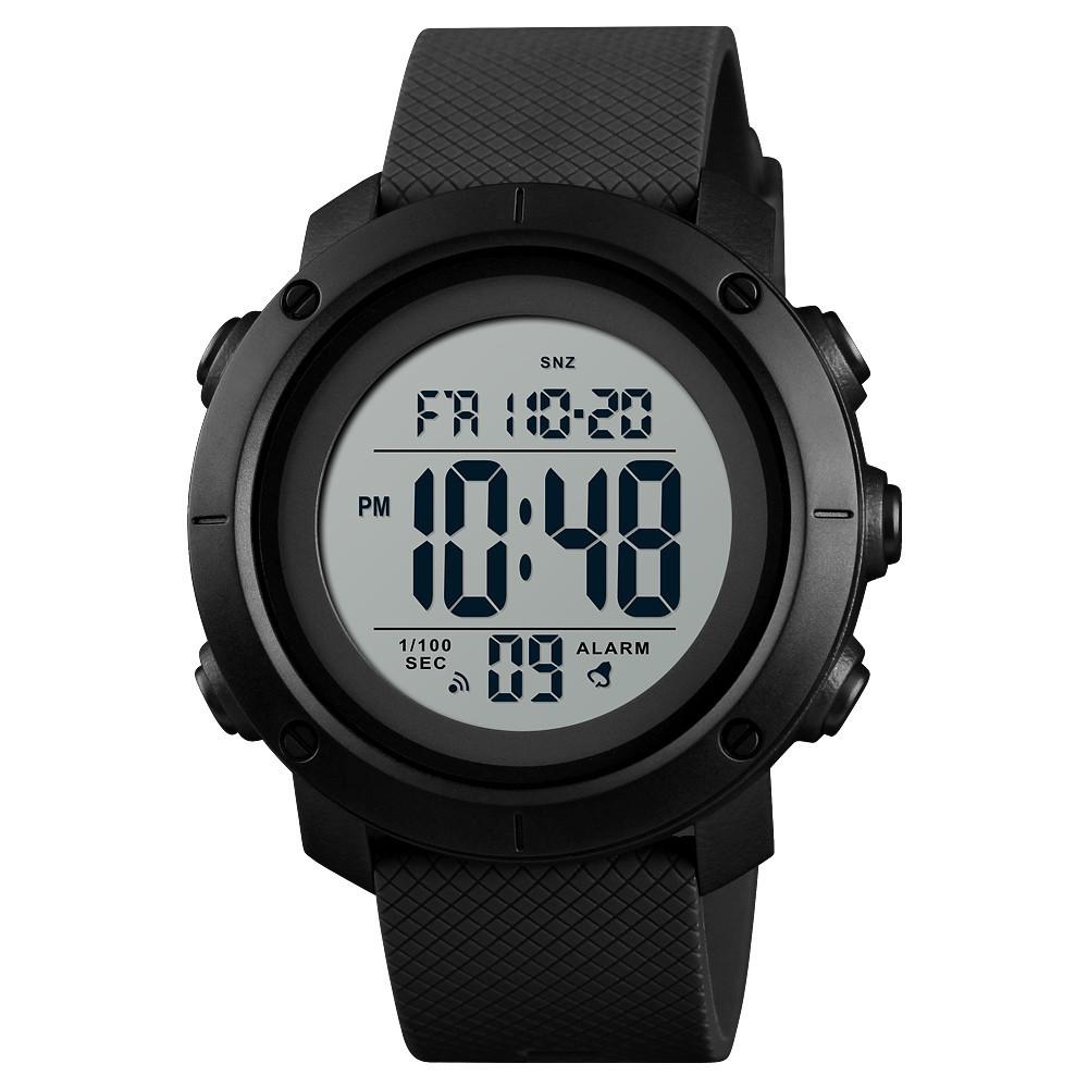 Cпортивные мужские часы Skmei 1426 Черные с Белым циферблатом