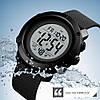 Cпортивные мужские часы Skmei 1426 Черные с Белым циферблатом, фото 4