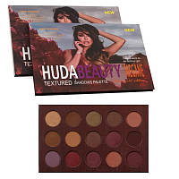 Палитра теней HUDA BEAUTY Megane Textured Shadows Palette Rose Gold Edition 15 в 1