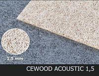 Акустическая панель CEWOOD, шир.волокна 1,5 мм, натур. цвет, 1200мм. * 600мм. * 15мм., фото 1