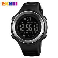 Спортивные часы Skmei 1396 Черные с Серебристым кантом