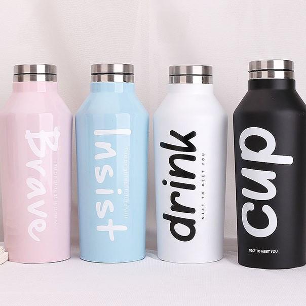 Термобутылка, термос, термостакан, стальная бутылка, бутылка для воды, термос