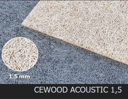 Акустическая панель CEWOOD, шир.волокна 1,5 мм, натур. цвет, 1200мм. * 600мм. * 25мм.