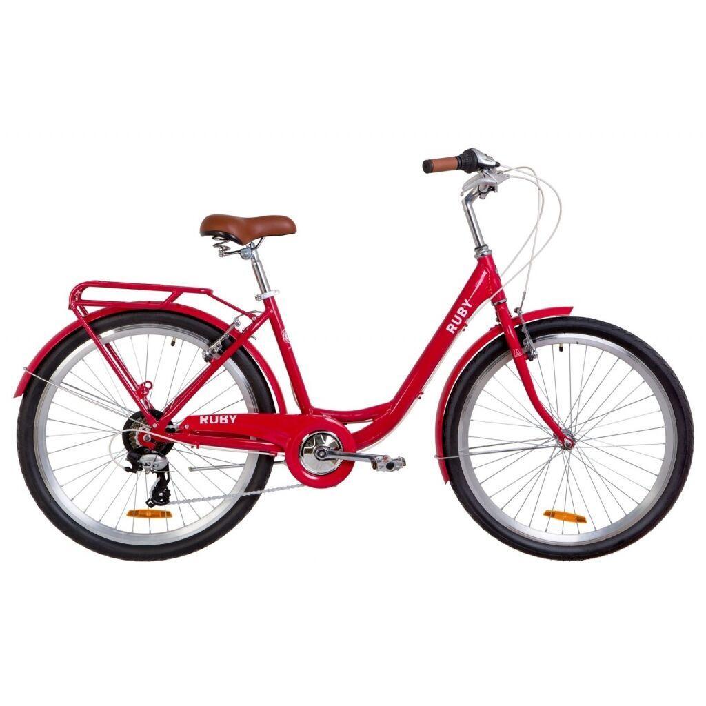 """Велосипед Dorozhnik 26"""" RUBY 2019 (красный) (OPS-D-26-072)"""