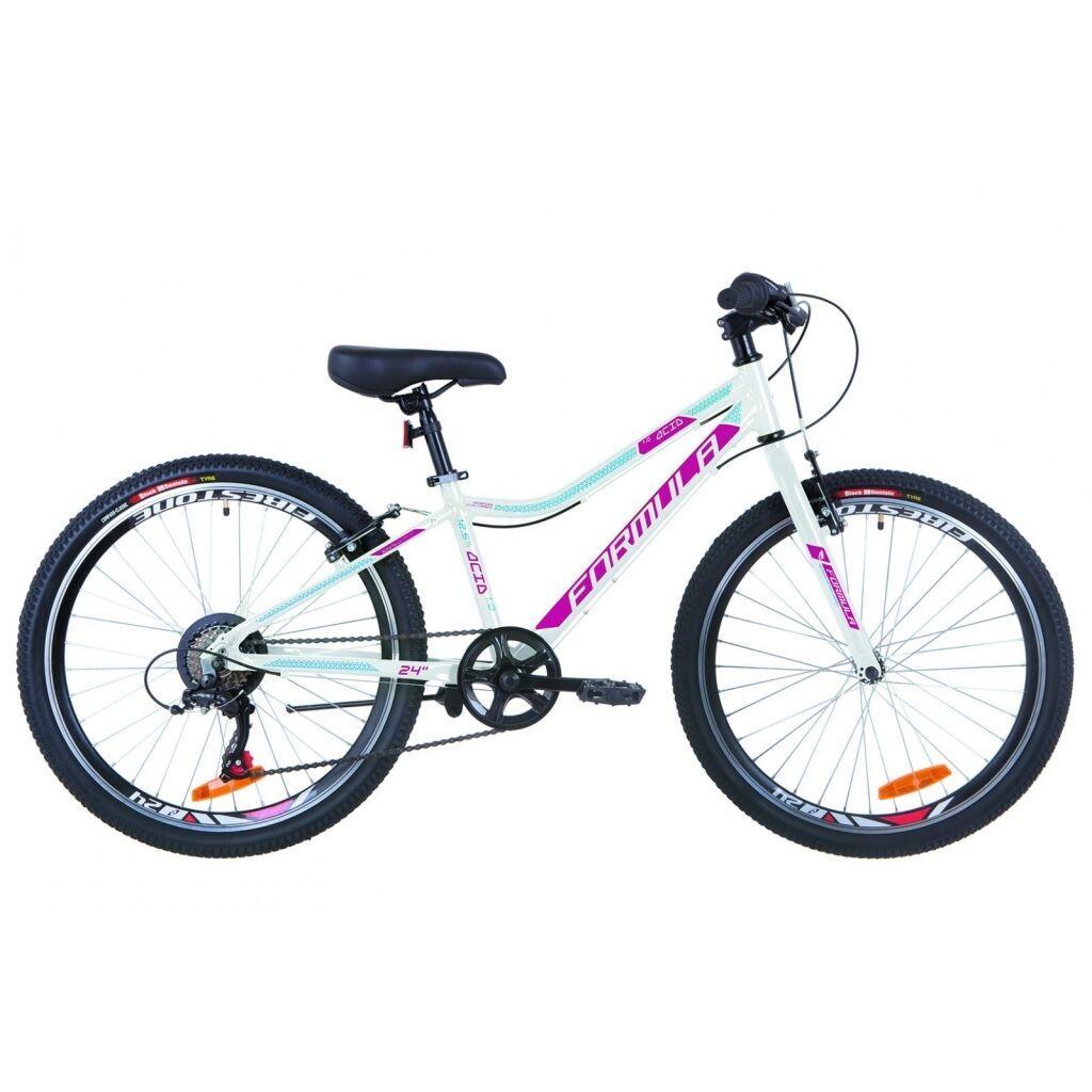 """Велосипед Formula 24"""" ACID 1.0 rigid 2019 (бело-малиновый с голубым) (OPS-FR-24-167)"""