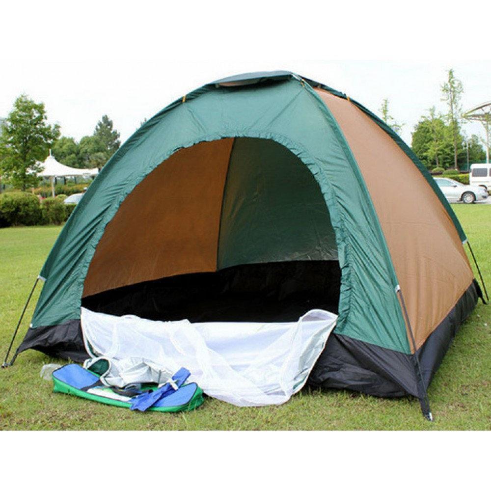 Палатка шести 6 местная туристическая кемпинговая 250х200х150см с пропиткой намет