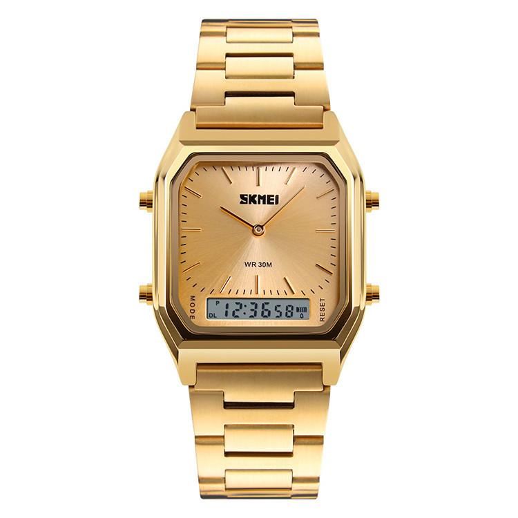 Мужские часы Skmei Tango 1220 Золотые