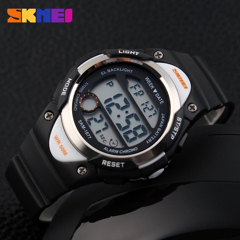 Skmei 1077 черные детские спортивные часы
