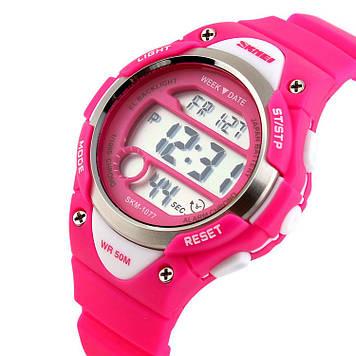 Детские спортивные часы Skmei 1077 розовые