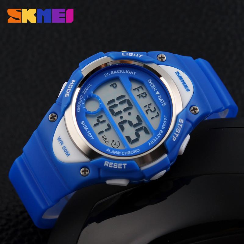 Skmei 1077 синие детские  часы