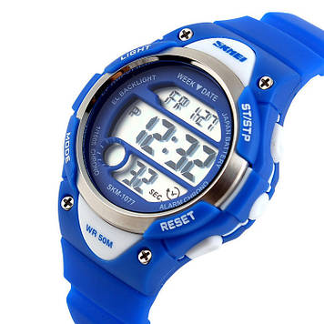 Детские спортивные часы Skmei 1077 синие