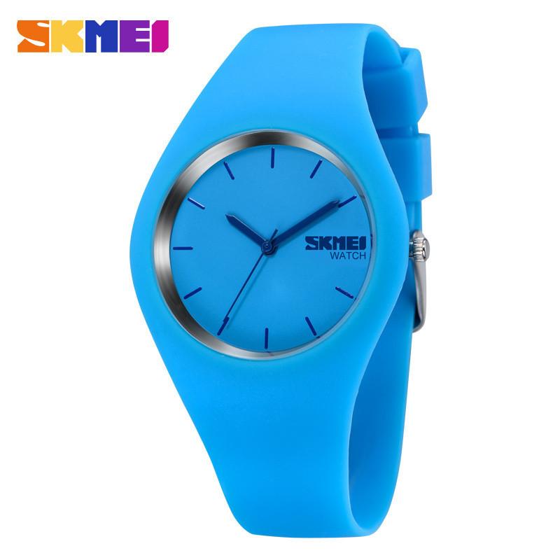 Skmei 9068 RUBBER синие женские спортивные часы