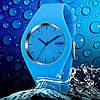 Skmei 9068 RUBBER синие женские спортивные часы, фото 2