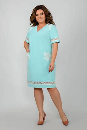 Великолепное женское платье ткань *Костюмная* 50, 52, 54, 56, 58 размер батал, фото 2