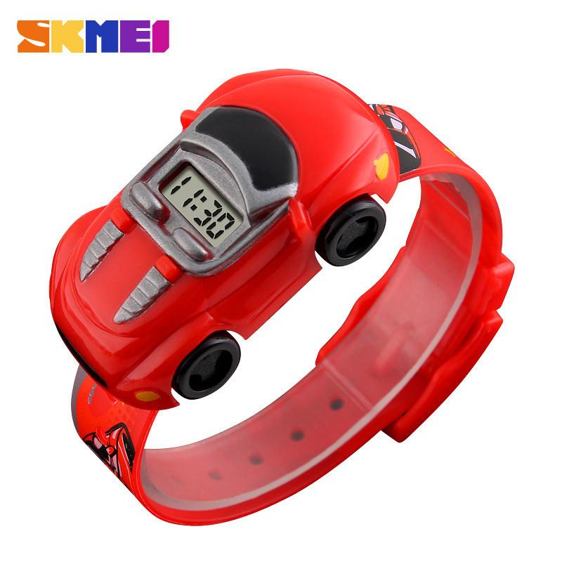 Skmei 1241 красные детские часы машинкой