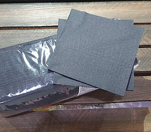 Салфетка черная 1 слойная, 24х24 см., 300 листов/уп целлюлоза FESKO