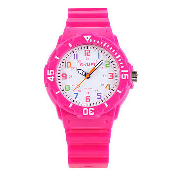 Skmei 1043 розовые детские часы