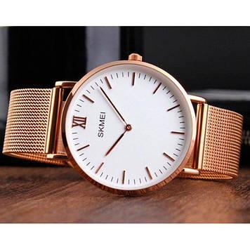 • Гарантия! Skmei (Скмей)1181 Cruize Gold Large   Оригинальные классические часы !