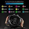 Skmei 1385 камуфляж спортивные часы с шагомером Smart, фото 5