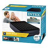 ✅Надувна ліжко Intex 64124, 152 х 203 х 42 , вбудований електронасос. Полутораместная, фото 4