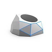 Беспроводное зарядное устройство для мобильного телефона XOOPAR - GEO DOCK серебристое с синей LED-подсветкой (XP61063.12BL)