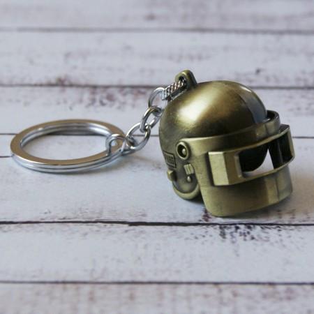 Брелок МТО Объемный шлем PUBG золото №26