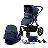 Детская коляска Kinderkraft MOOV 2in1 (темно-синий)