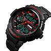 Skmei 1320 PROTECT черные с красным мужские спортивные часы, фото 3