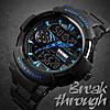 Skmei 1320 PROTECT черные с синим мужские спортивные часы, фото 5