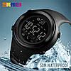 Skmei 1396 черные спортивные часы с шагомером, фото 6