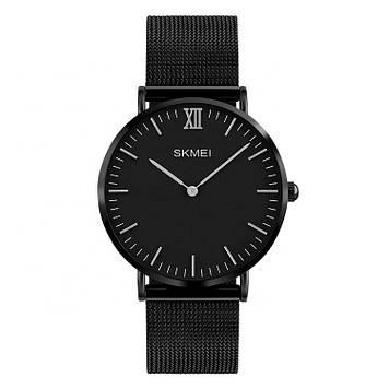 Классические Тонкие мужские часы Skmei 1181 Cruize черные