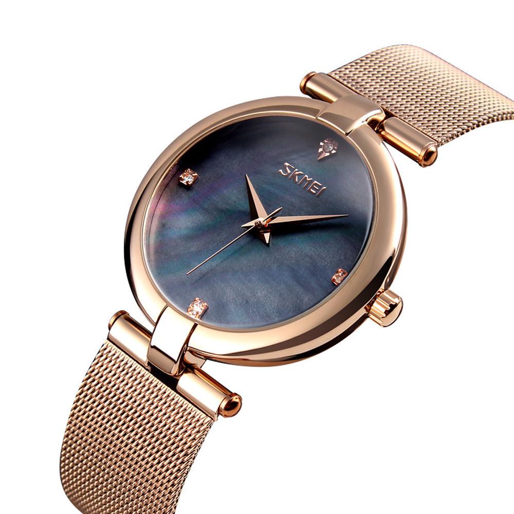 Skmei Marble 9177 черные оригинальные женские часы