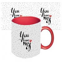Подарочная чашка для влюбленных Ты в моем сердце