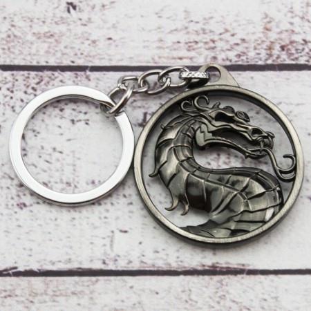 Брелок МТЛ Мортал Комбат логотип серебро №6