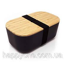 Ланчбокс из бамбука Bamboo Box Be Different (черный)