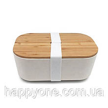 Ланчбокс из бамбука Bamboo Box Be Different (бежевый)